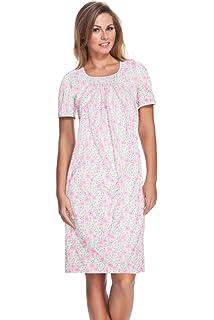 e.Femme/® Damen Nachthemd Emma 860 aus Reiner Baumwolle