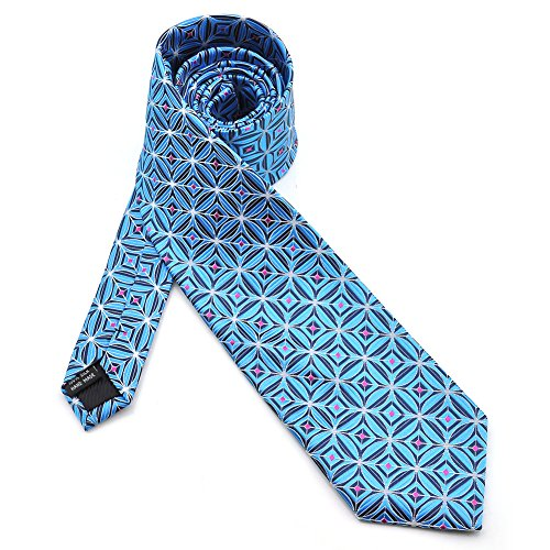 PenSee - Cravate - Homme Powder-blue & Black