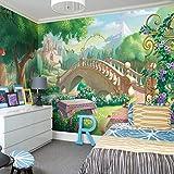 Fondo de pantalla personalizado para fotos en 3D Habitación infantil Cuento de hadas Mundo de grandes murales Dormitorio Sala de estar Mural Papel tapiz (W) 350x (H) 245cm