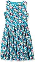 Lindy Bop Women's Audrey Turq Floral Dress
