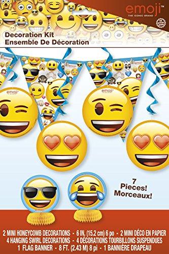 Emoji Addobbi per feste, confezione da 7pezzi