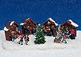 Modellbau Miniatur Weihnachtsmarkt 31x17x10 cm
