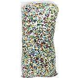 com-four® Konfetti, in vielen Farben gemischt, Ø 0,5 cm, 1000 Gramm (01 Beutel - Konfetti)