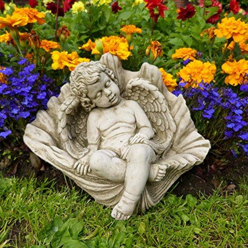 Cherubino All' interno Shell-Decorazione da giardino pietra realizzato a mano statua/scultura