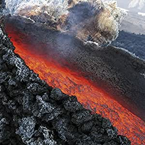1art1® Posters: Volcans Poster Reproduction - Coulée De Lave, Éruption Volcanique De L'Etna, Sicilie (70 x 70 cm)
