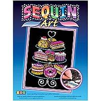 """Sequin Art 1423 - """"L'arte delle paillettes"""", soggetto: Espositore di dolci"""