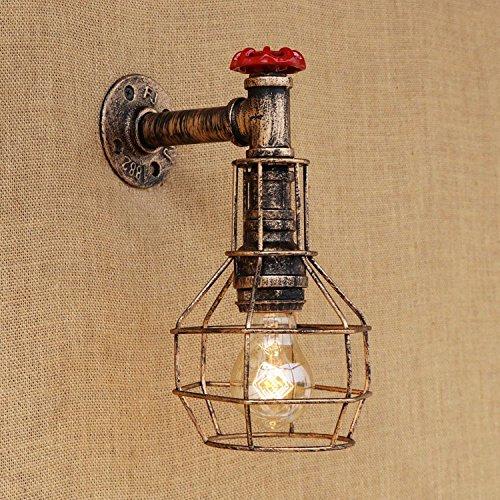 Lilamins Bügeleisen Art Cafe ist ein Wohnzimmer Bett Kleidung American Retro Pipe Wandleuchten 3 (American Art Drei-licht)
