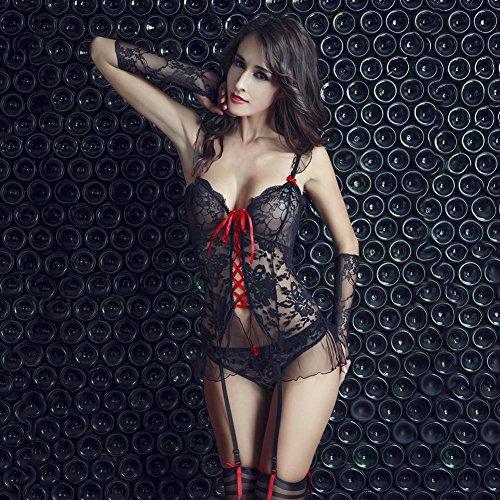 (Uniform Myhope Women's Dessous Sexy Lace Stretch Babydoll)
