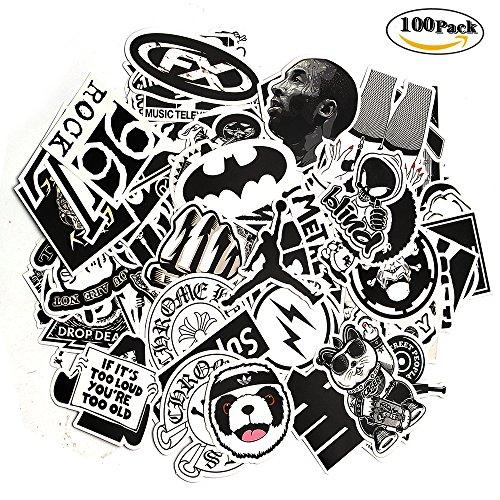 Aufkleber Schwarz Weiß Decals Vinyl Vintage Retro Pop Art Graffiti Super Aufkleber für Tastatur Macbook Laptop Skateboard Bike Motorrad xbox one Aufkleber (Bike-reise-koffer)