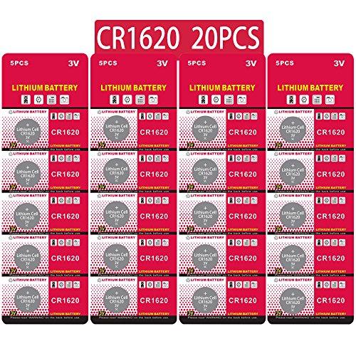 20 Stück CR1620 3V Lithium Knopfzelle Elektro CR 1620 Lithium (Cr 3v 1620 Batterie)