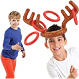 Fancyus Antler Hat Ring Christmas Inflatable Toss Party Game