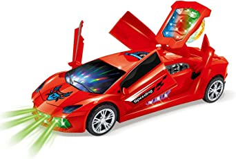 Jiada Supercar Toy 3D Projection Light with Music Opening Doors and 360 Degree Rotation | Assorted Colours