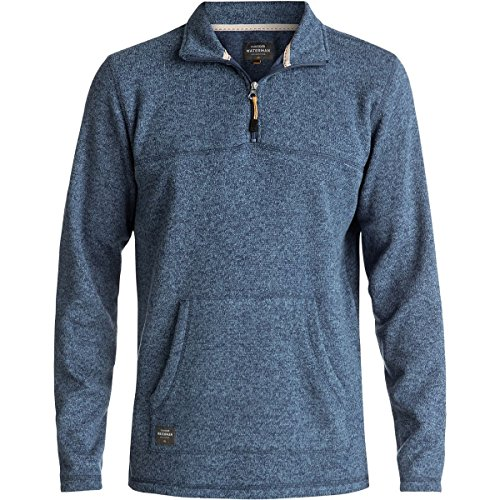 Quiksilver Herren Mormont Tre Zip-Up Hoodie, Large, Ensign Blue (Zip Quiksilver Sweatshirt Full)