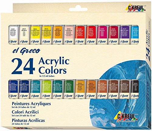 El Greco 28253 - Acrylfarben, 12 Ml, 24-Er Set