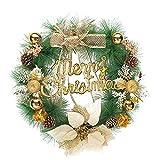 Eleery Weihnachten Türkranz Weihnachtsdeko Türanhänger Christbaumschmuck Baumschmuck Nikolaus für Fenster Tür Weihnachtsbaum Xmas Party (Gold)