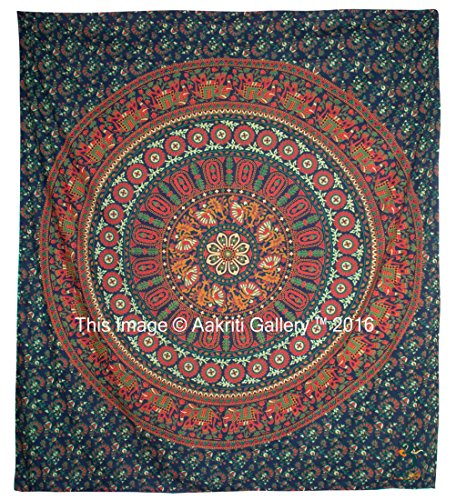 Tapestry Queen Flower Hippie tapestries Mandala Bohemian Psychedelic Intricate Indian Bedspread 92x82 Inches Aakriti Gallery Brand Name: Aakriti Gallery 6