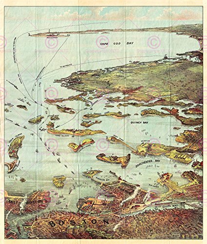 map-19th-century-murphy-boston-harbour-large-poster-print-pam2037