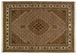 Lifetex.eu Teppich Täbriz Mahi mit Seide ca. 245 x 170 cm · Braun · handgeknüpft · Schurwolle mit bis zu 5% Naturseide · Klassisch · hochwertiger Teppich · LT15861