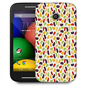 Snoogg Gloss Candy Pattern Designer Protective Phone Back Case Cover For Motorola E / Moto E