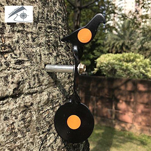 Il bersaglio girevole per tiro con arma da fuoco da 3mm è molto semplice. Si può trasportare in tasca per divertirsi in qualsiasi momento e in qualsiasi luogo. Può essere integrato in qualsiasi superficie verticale. Come una parete, un albero, un ba...