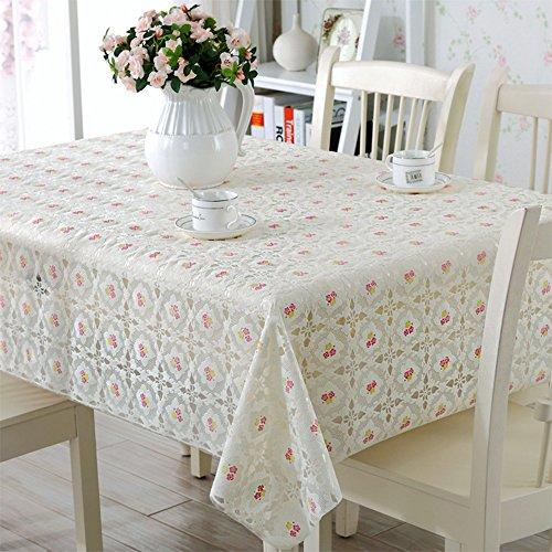 Global- Style Européen PVC Étanche Table À Manger Nappe Salon Table Basse Quatre Saisons Place Mat ( taille : 138*138cm )