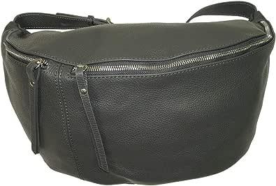 Italy borse in pelle echt Leder Damen Handtasche| XXL crossover Body Bag in Metallic Look| Umhängetasche mit verstellbaren Riemen