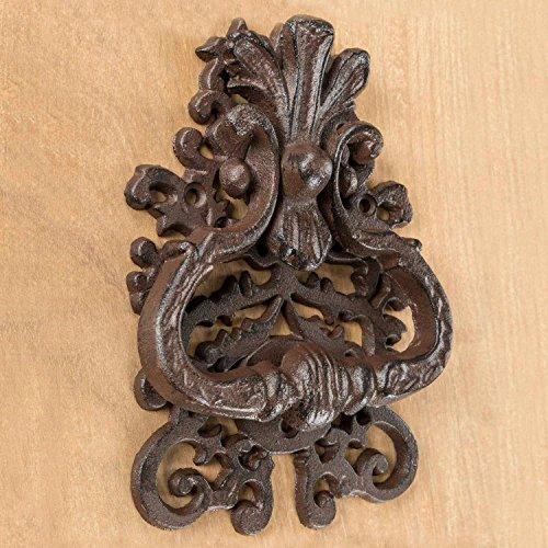Homescapes Dekorativer Türklopfer Antik aus Gusseisen Klassisch in Braun 358g