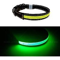 Toozey LED Leuchthalsband für Hunde mit 3 Beleuchtungsmodi, Einstellbare Länge und USB Aufladbar und Wasserdicht Nylon…