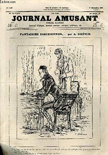 Le Journal amusant N°1109 - Fantaisies parisiennes - Ne venez-vous pas de me dire que vous alliez être père?