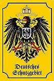 Deutsches Schutzgebiet Gelb Blechschild Metallschild Schild gewölbt Metal Tin Sign 20 x 30 cm