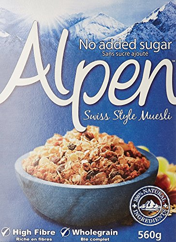 Alpen Cereal No Added Sugar, 560g