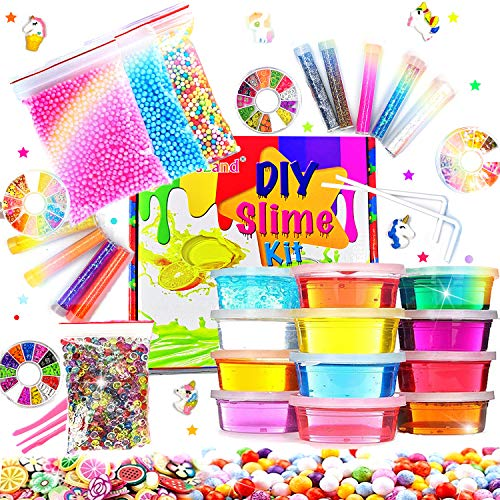DIY Fluffy Slime Kit Crystal Sli...