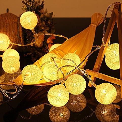 Handgefertigte Baumwollkugeln Fairy String Lights Home Decor Produkt für Garten