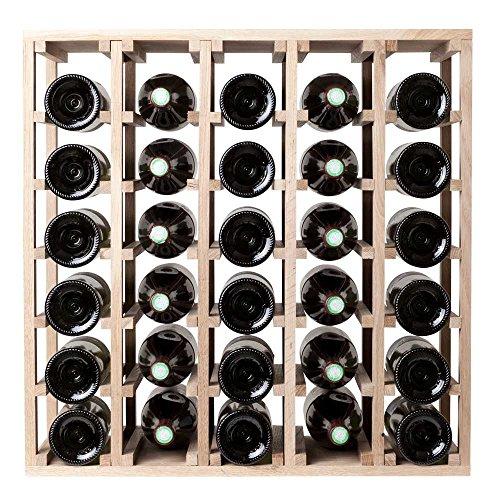 SQUARE WINE RACKS Alda Weinregal, quadratisch, für 30 Flaschen, Eiche massiv, quadratisch, modular, quadratisch - Modular Wine Rack