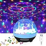 Lumière disco de partie, lumières de disco de XIAOKOA pour des parties Lampe Activité extérieure Éclairage d'étape DJ Fournit le bruit activé pour le mariage