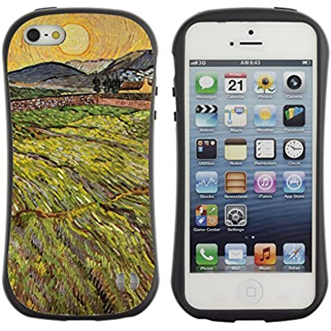 Super Galaxy iFace Slim Fit Seriesdual Layer Rigida Protettiva Custodia Case // V00006236 Campo paesaggio Vin Van Gogh // Apple iPhone 5 5S 5G SE