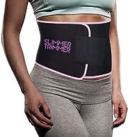 Slimmer Trimmer Premium Waist Trimmer - Weight Loss Sweat Belt Waist Trainer for Women & Men Adjustable Thermal Stomach Slim