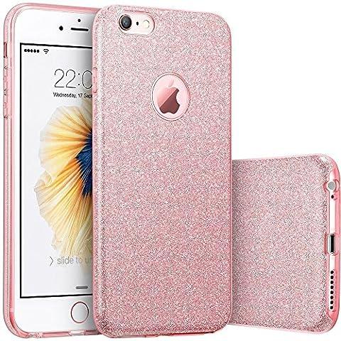 honeststar® Coque arrière par Apple iPhone se 55S–Ultra fin [Amortissement] Bumper en TPU boîtier Bling Glitter slim fit Coque en silicone souple en caoutchouc de protection pour la peau (or)