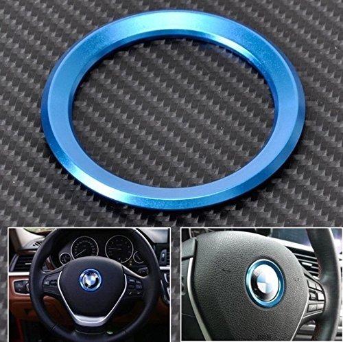 FFZ Parts Lenkrad Emblem Rahmen 46 mm Innendurchmesser Blau Passend Für 1er 3er 4er 5er 7er E46 E52 E53 E60 F01 F30 F20 F10 F15 F13 M3 M5 M6 X1 X3 X5