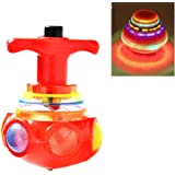 Junos LED Lattoo,Spinning Top with LED Light , Music and Laser Toy (Multicolour and Design)