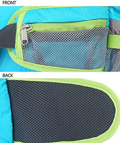 SPRAWL Outdoor Hüfttasche Wasserabweisende Gürteltasche Bauchtasche für Reise und Sport Unisex Blau