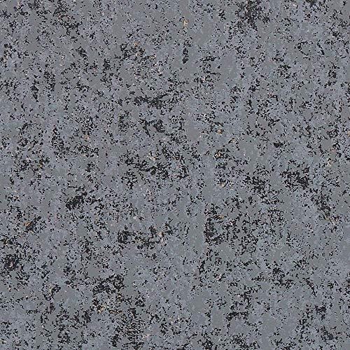 LBLFG Carta da Parati Effetto Cemento Effetto Marmo Grigio Scuro in Stile Loft Effetto Cemento
