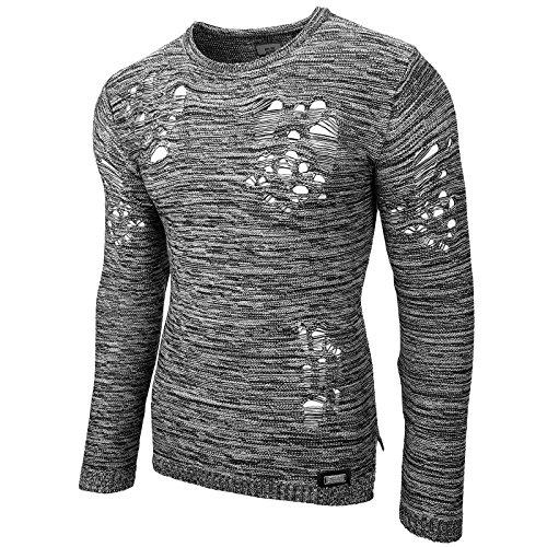 Styler Herren Winter StrickPullover Slim Fit Langarm Rusty Neal Shirt RN295  Grau 529d6efa3b