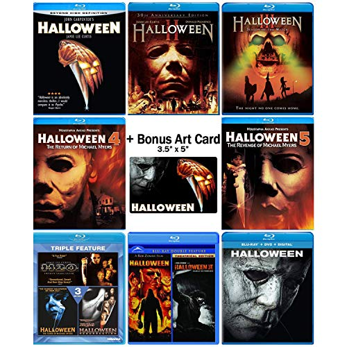 11 Movie Collection: Complete Original + Rob Zombie Remake + 2018 Sequel Blu-ray Series + Bonus Art Card ()