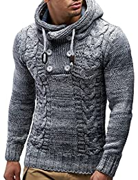 LEIF NELSON - Gilet Tricot col Large LN20227