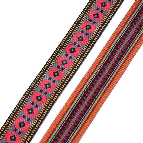 Cinturini Larghi Ysinobear Per Borse Tracolla Intrecciata Modello Plaid Retrò Per Borse Accessori Fai Da Te (colorati) Nero & Rosso & Giallo