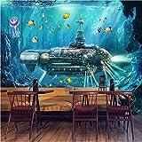 Qwerlp 3D Photo Wallpaper Sottomarino Mondo Subacqueo Decorazione Murale Murale Soggiorno Camera Da Letto Vivaio 3D Murales Wallpaper-310Cmx230Cm