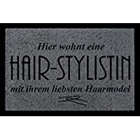 Fußmatte *Haarstudio* Friseur Haare Hair Friseurbedarf Deco Geschenk Fußmatten
