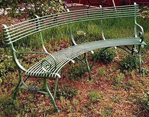 Casa Padrino Schmiedeeisen Gartenbank mit Krallenfüßen 1,9 x 0,48 x H. 0,9m - Vintage Nostalgie, Farbe:rost