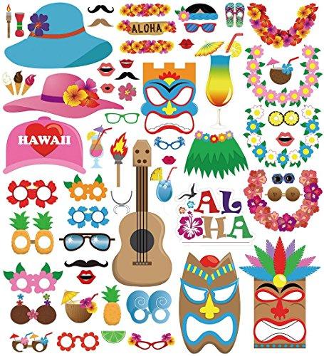 Veewon-60pcs-Luau-hawaiano-Photo-Booth-props-Tropical-festivales-de-verano-playa-piscina-fiesta-boda-cumpleaos-decoraciones-suministros